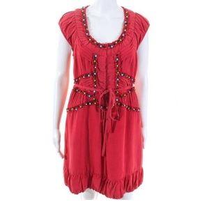 Scoop Neck Cap Sleeve Nanette Lepore Beaded Dress
